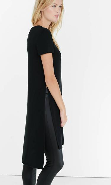 Express Side Slit Tunic Maxi Tee