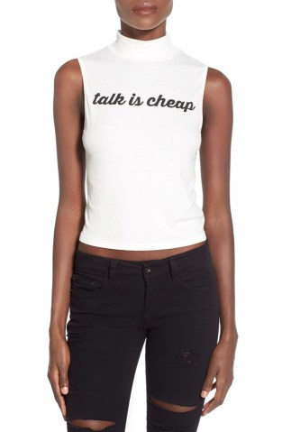 Talk is Cheap Tank, $28