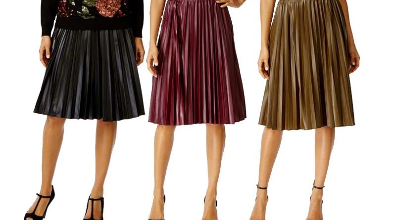 b58088eaa Want: Pleated Faux Leather Midi Skirts • Broke and Beautiful
