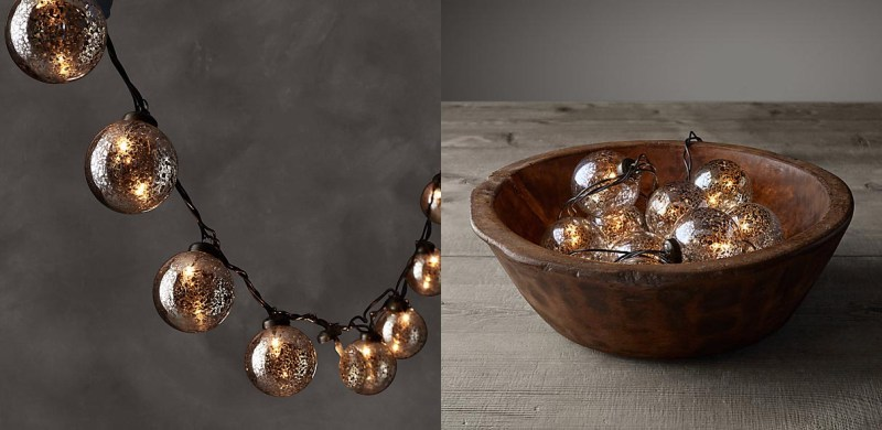 Handblown Vintage Glass String Lights