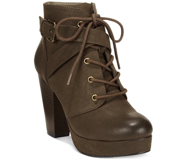 Material Girl Rhodes Lace Up Ankle Boots