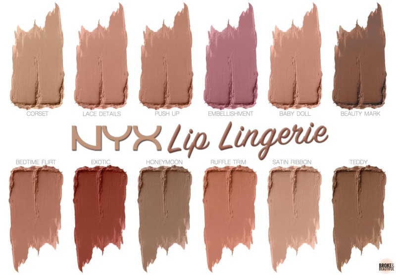 NYX Lip Lingerie Liquid Lipstick Swatches