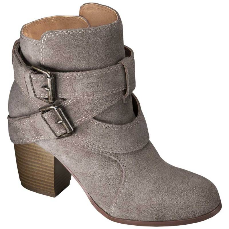 grey suede ankle boots