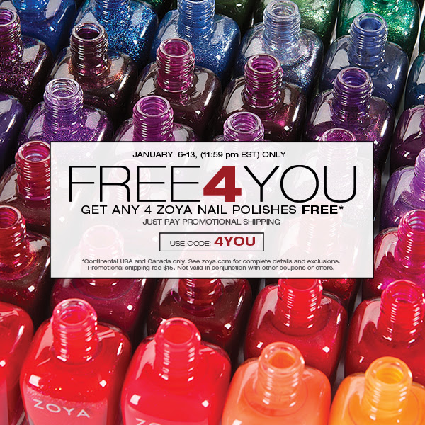 Zoya 4 Free Polishes