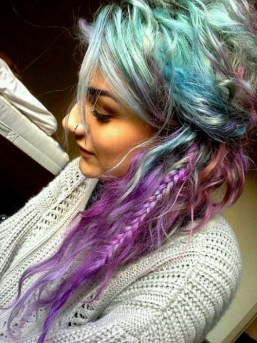 Braided Multicolor Mermaid Hair