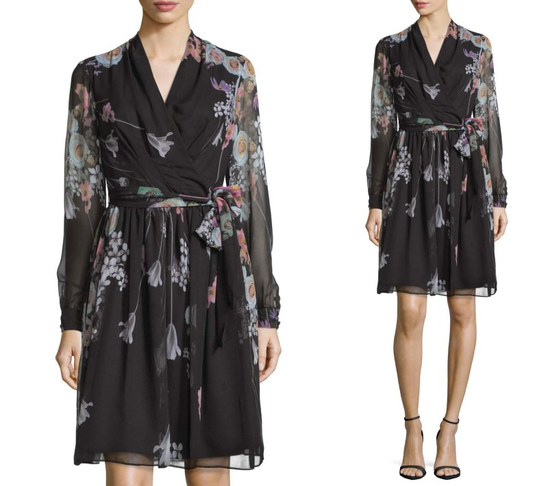 Chetta B Long Sleeved Floral Dress