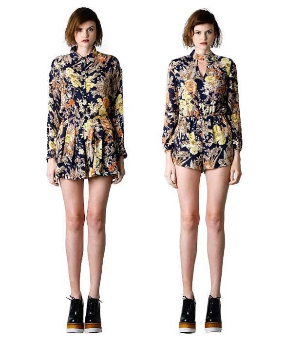 Lucca Couture Navy Floral Jumper and Separates