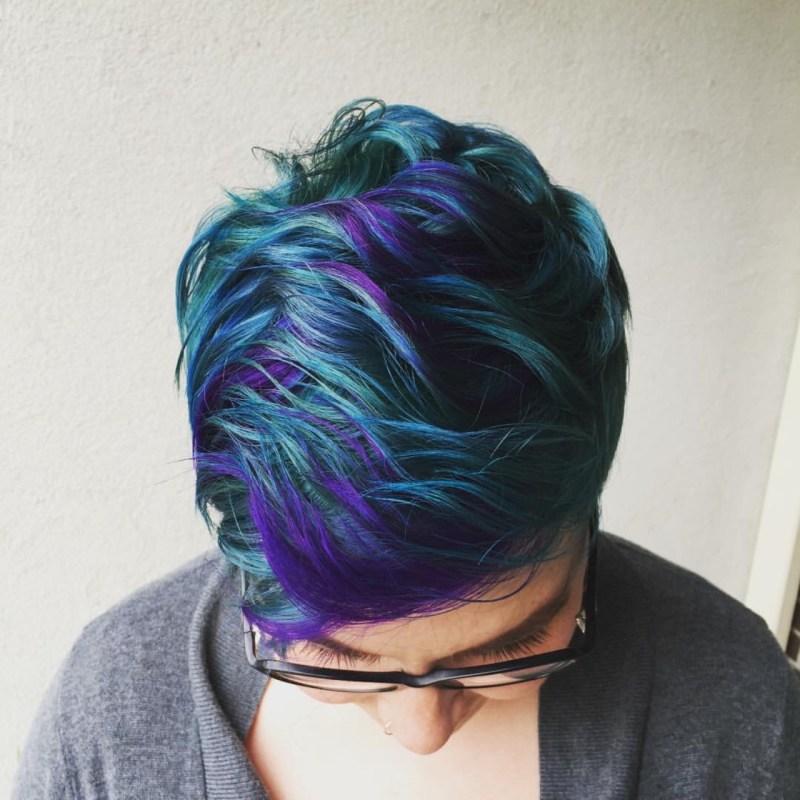 Mermaid Hair Short Blue Purple