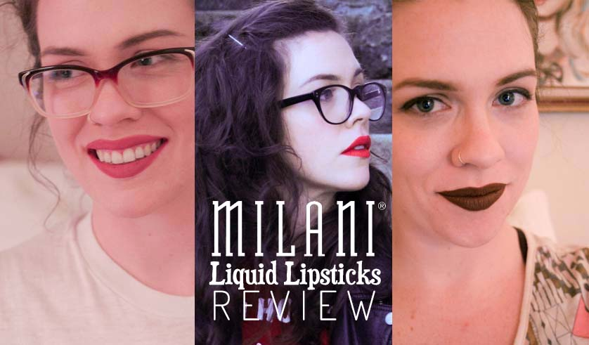 Milani Amore Matte Lip Crème Liquid Lipsticks Review