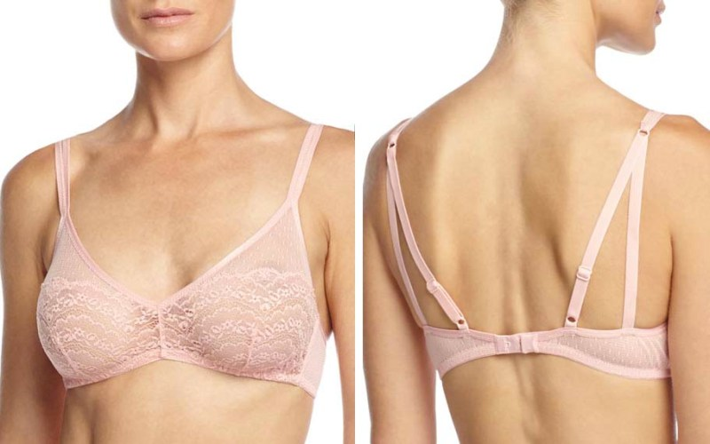 cosabella light pink soft bralette