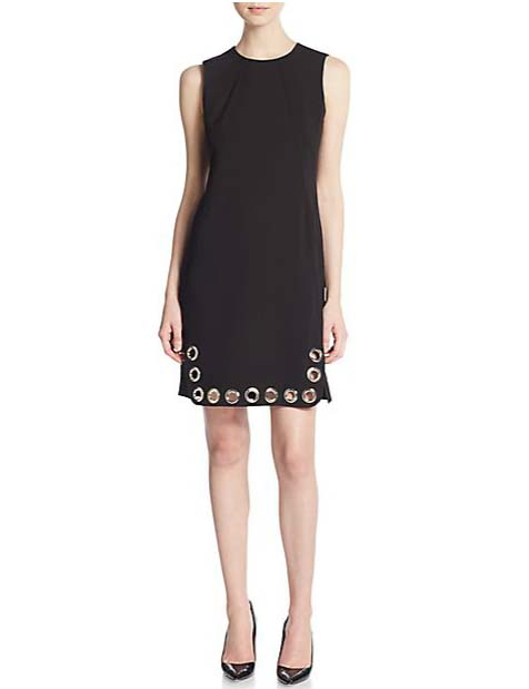 Karl Lagerfeld Grommet Trimmed Shift Dress