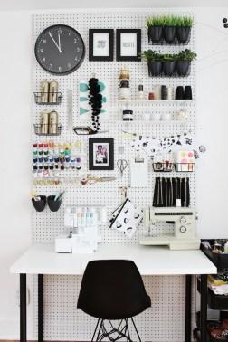 Mandy Pellegrin's desk, via Fabric, Paper, Glue.