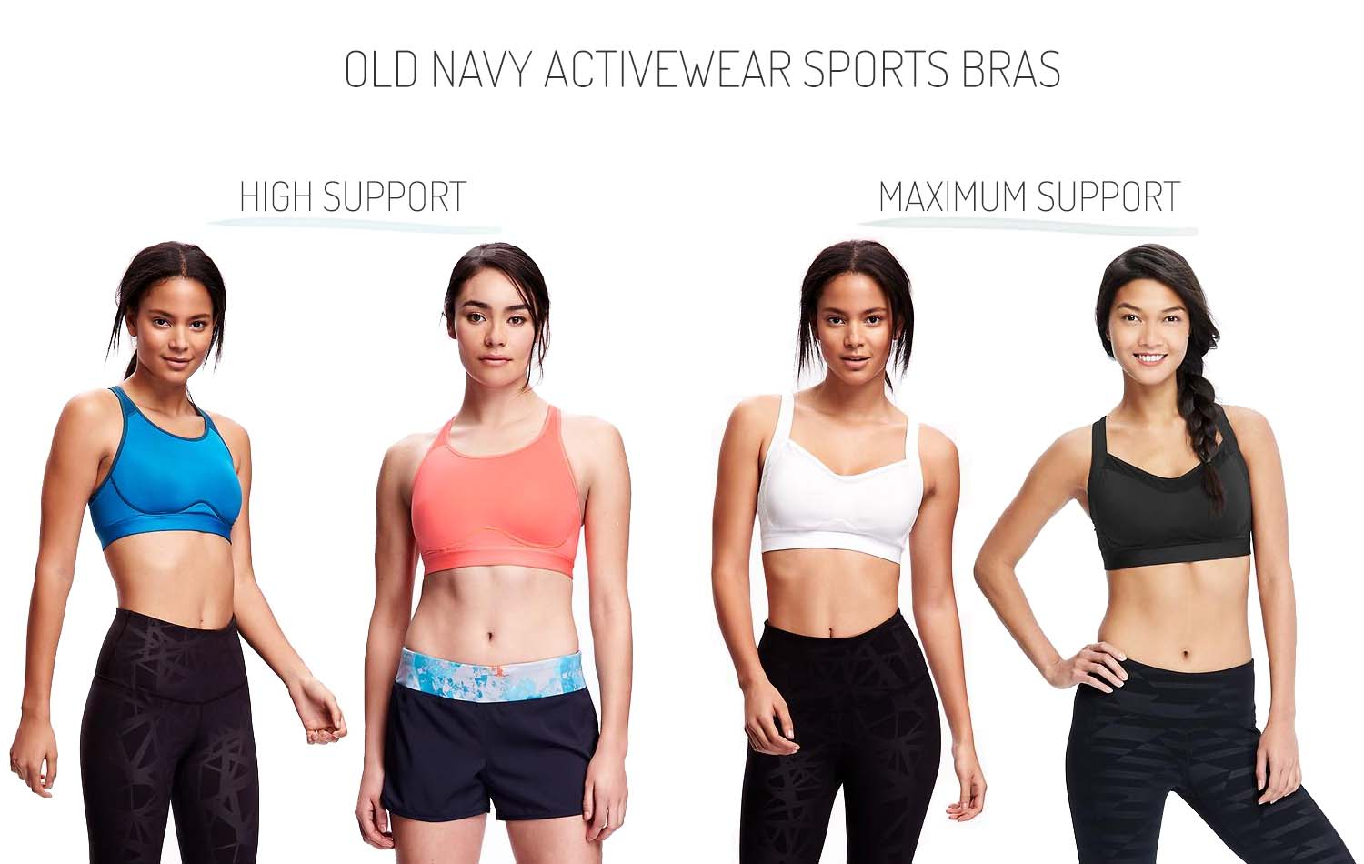 8cb23308aa6 Old Navy Activewear High Support Maximum Support Sports Bras