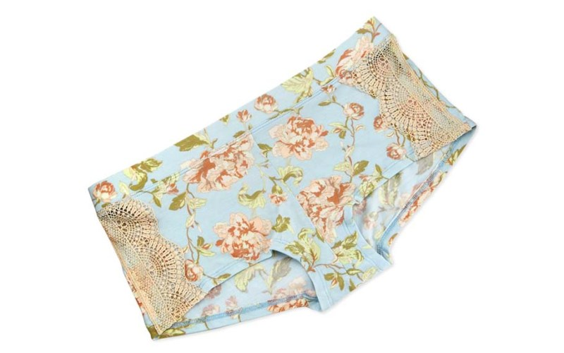ella moss floral and lace boyshort panties
