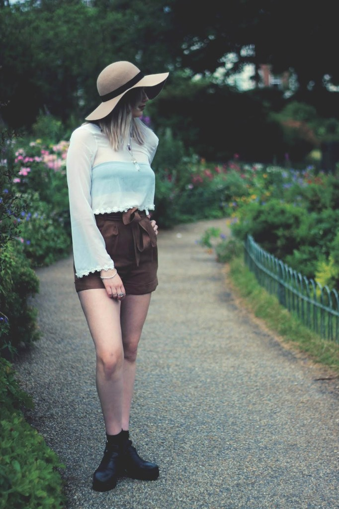 Sapphire Says: High Waist Shorts & Sheer Top