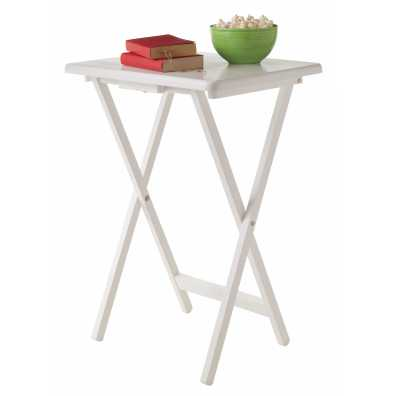 White Wooden Folding Table