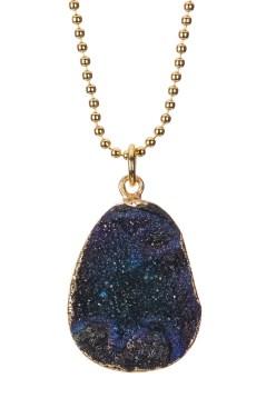 Baublebar Druzy Ball Chain Pendant Necklace