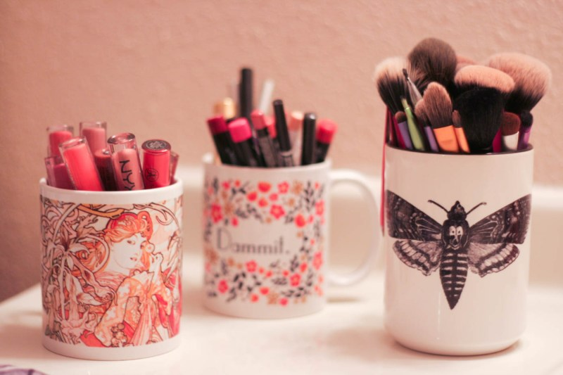 lipstick holder custom art print coffee mug