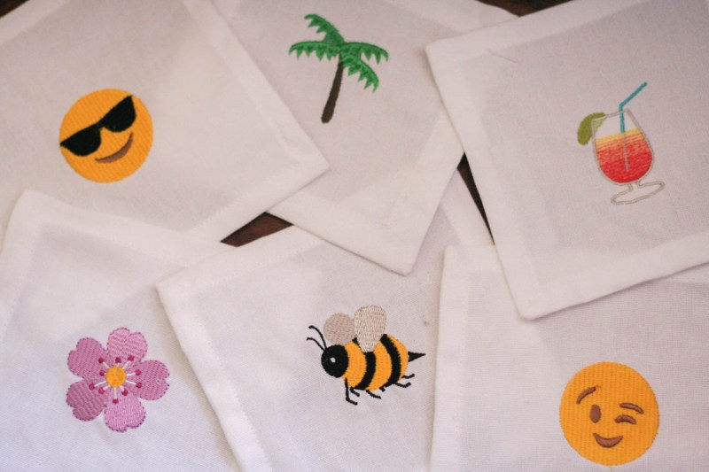 House of Pom Emoji Cocktail Napkins-2