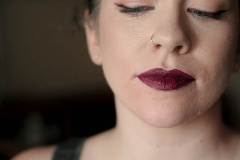 deep berry wine matte vice lipstick palette swatch