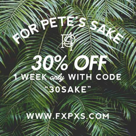 For Pete's Sake - 30% off coupon code