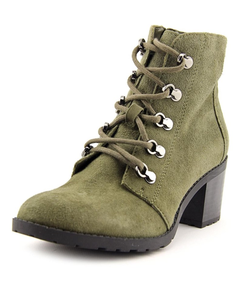 Anne Klein Green Round Toe Ankle Boots