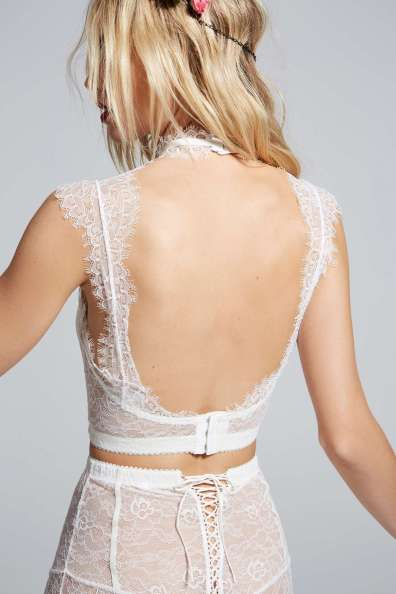 courtney love white longline bra lingerie high waist panties
