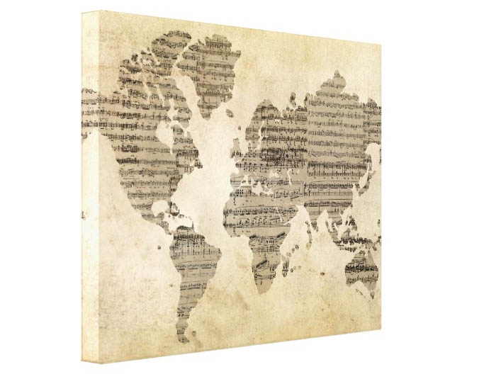 The best sales and coupon codes for after christmas sales sheet music world map 6317 3159 its so much more than a poster its a piece of art it even comes on a wrapped canvas which adds dimension gumiabroncs Gallery