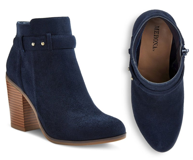 Target Boots: Merona Ginnifer Stud Button Heeled Booties