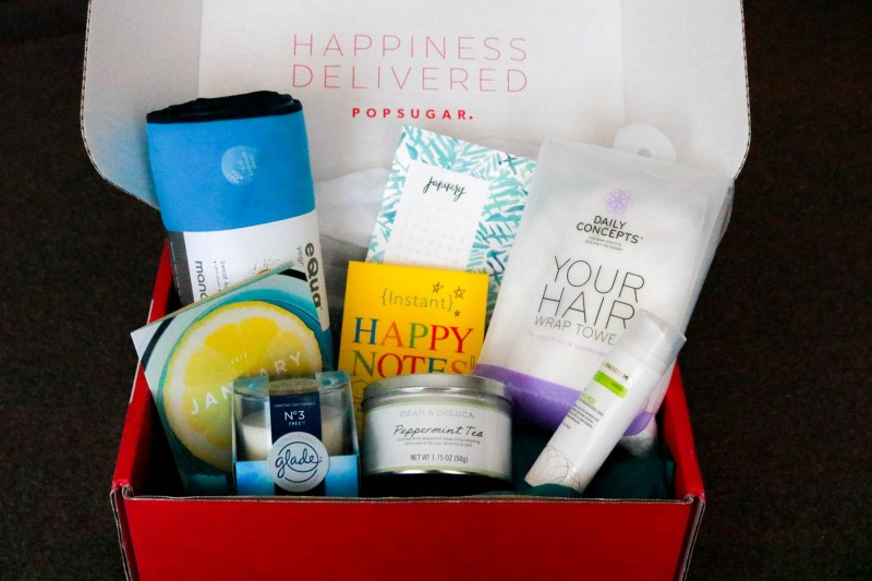 popsugar subscription box unboxing