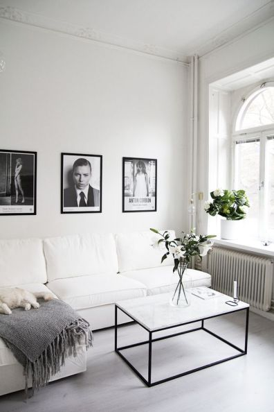 Black White Walls Apartment