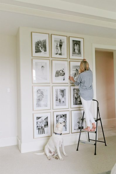 White Walls Neatly Organized Frames Wall