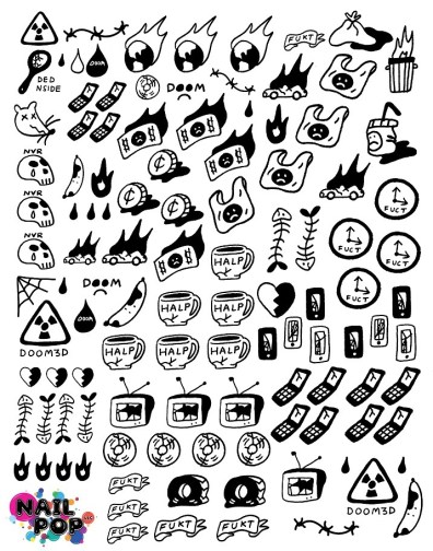 Nail Pop Decals - Dystopia Graphics