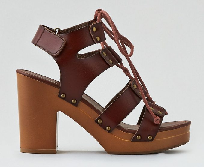 13 Lace Up Sandals With Chunky Block Heels Under 100