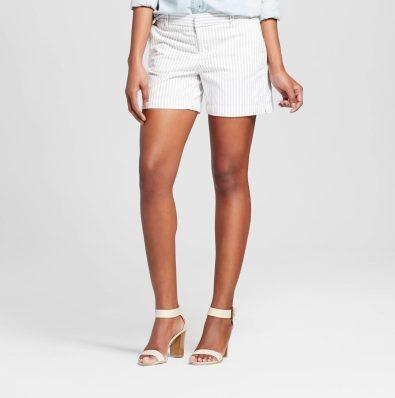 "Target 5"" Pocket Navy Striped White Shorts"
