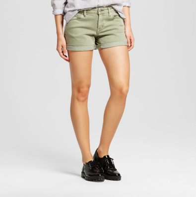 Target Mossimo Moss Green Mid Rise Shorts
