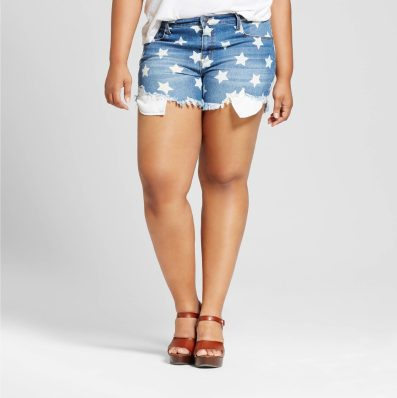 Target Plus Size Star Cut Off Shorts