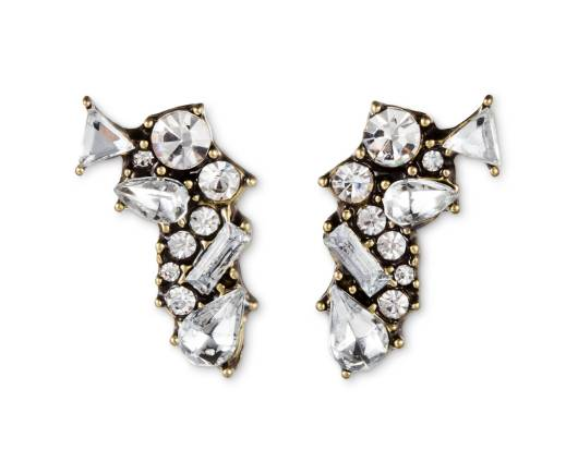 SUGARFIX Shatter Crystal Stud Earrings, $9.99