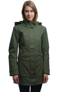 Mia Melon Green Nomad DWR Jacket