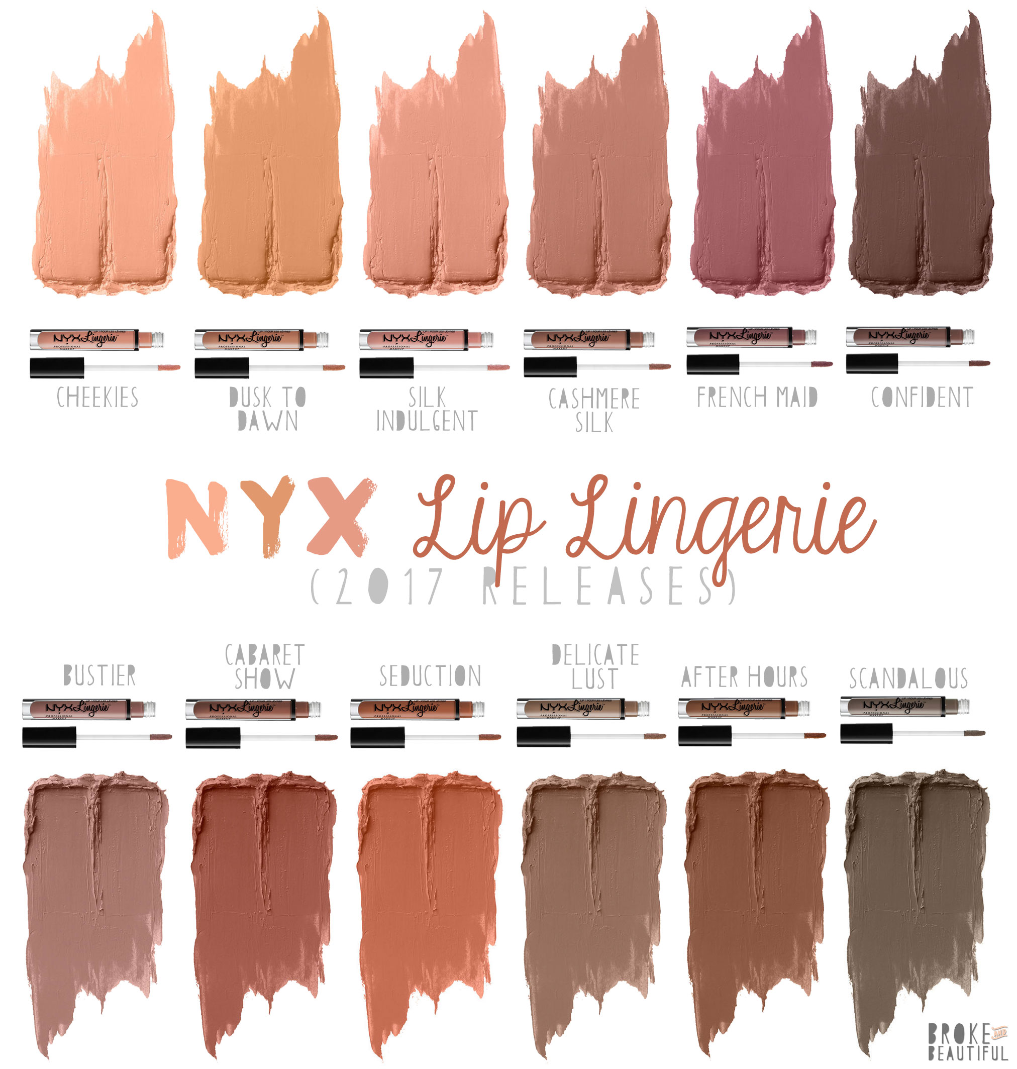 92ff9f8c39a98 Help, I Want This: NYX Lingerie Liquid Lipsticks + Swatches