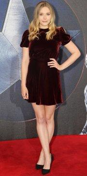 Elizabeth Olsen Velvet Dress
