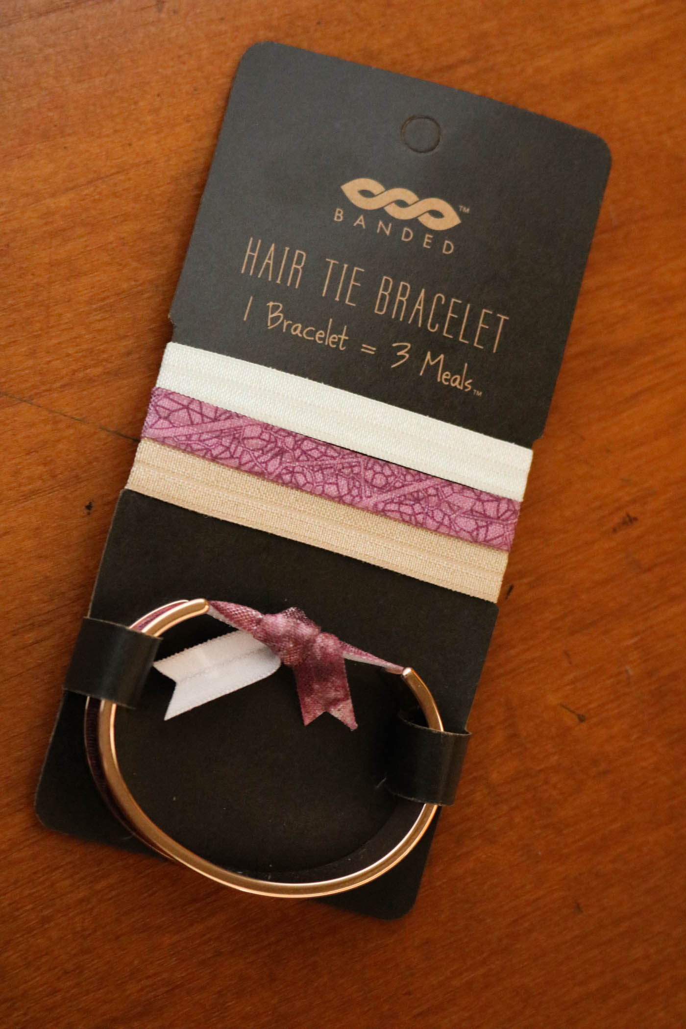 Banded Rose Gold Hair Tie Bracelet – Broke and Beautiful bde21db64f8