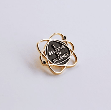Bang-Up Betty I Believe in Science Enamel Pin