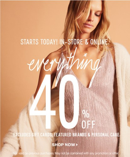 EXPRESS: 40% Off of Everything
