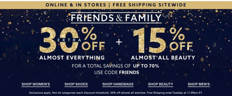 Lord & Taylor Green Monday: 30% Off Everything + 15% Off Beauty + Free Shipping (No Min.)