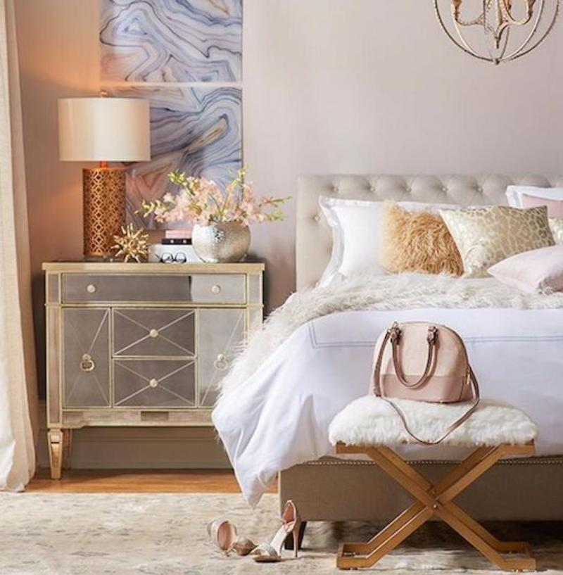 Style Remake: Cozy Bedroom with Metallic & Faux Fur ... on Trendy Bedroom Ideas  id=52123