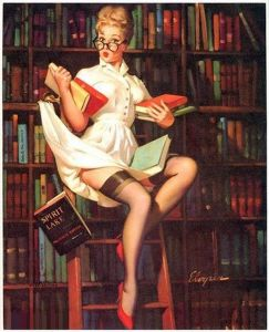 The classic nerdy-nympho librarian