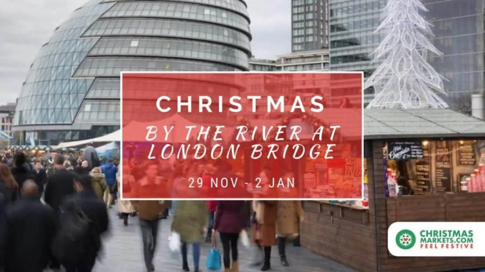 Christmas by the River at London Bridge