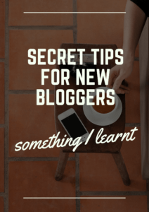 secret tips for new bloggers