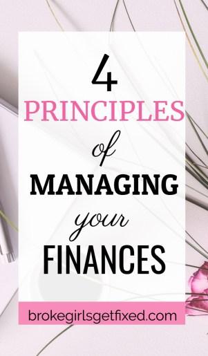 Managing your finances: 4 easy principles
